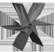 پروانه رادیال با بالانس استاتیکی و دینامیکی